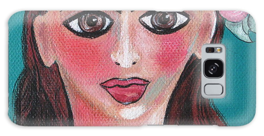 Canvas Galaxy S8 Case featuring the painting Rosa by Sue Wright