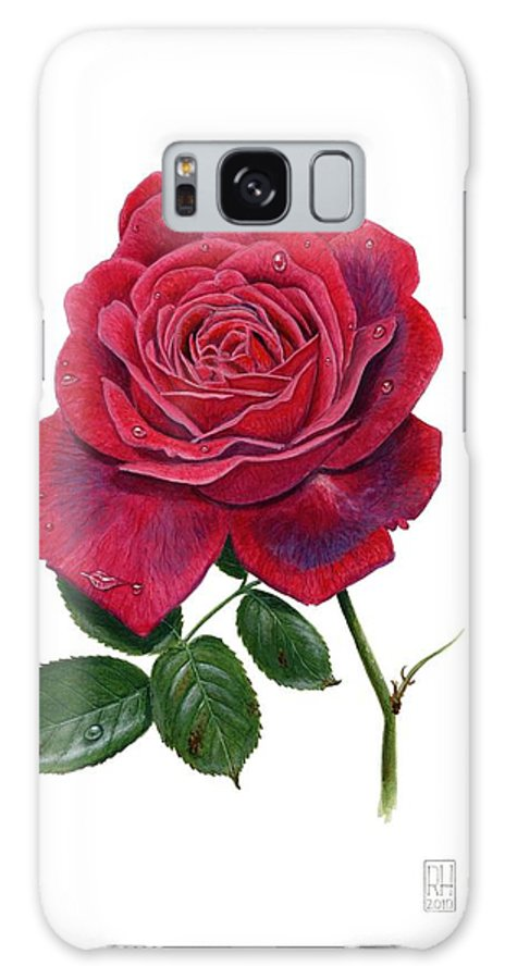 Rose Galaxy S8 Case featuring the painting Rose 1 by Richard Harpum