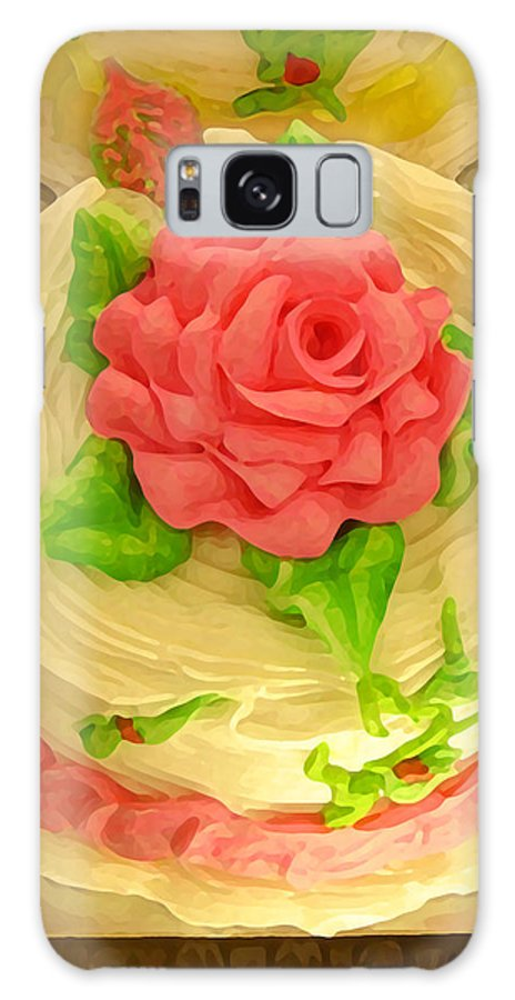 Food Galaxy Case featuring the painting Rose Cakes by Amy Vangsgard