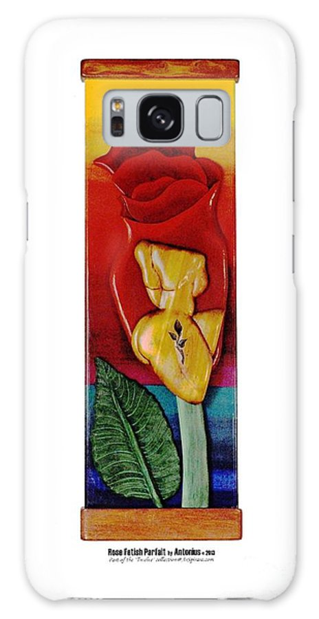 Relief Galaxy S8 Case featuring the painting Rose Fetish Parfait by ArSpirare by Antonius