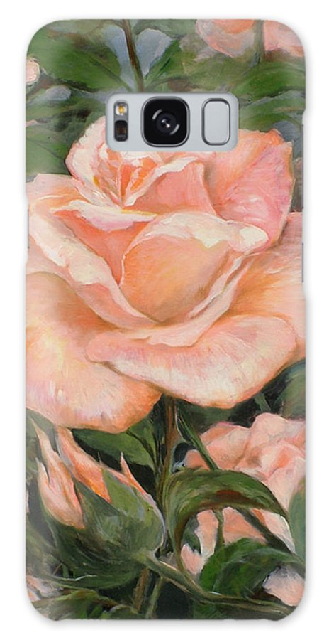 Rose Galaxy S8 Case featuring the painting Rose Garden by Ekaterina Mortensen