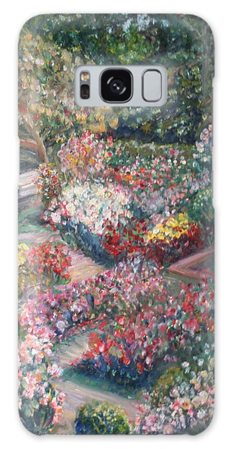 Impressionist Landscape Galaxy S8 Case featuring the painting Rose Garden by Quin Sweetman