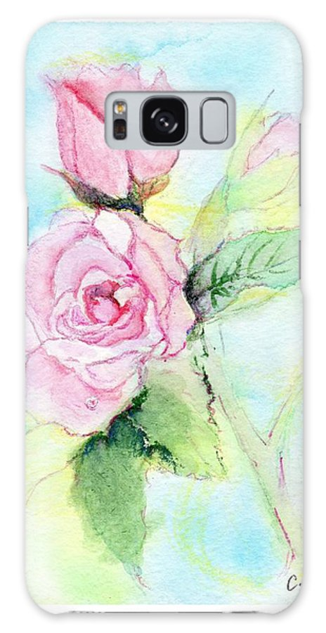 C Sitton Painting Paintings Galaxy S8 Case featuring the painting Roses by C Sitton