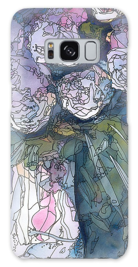 Roses Galaxy Case featuring the painting Roses In A Vase by Christina Rahm Galanis