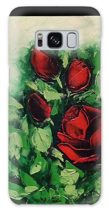 Rose Galaxy S8 Case featuring the painting Roses In The Hedge by Tommy Castro