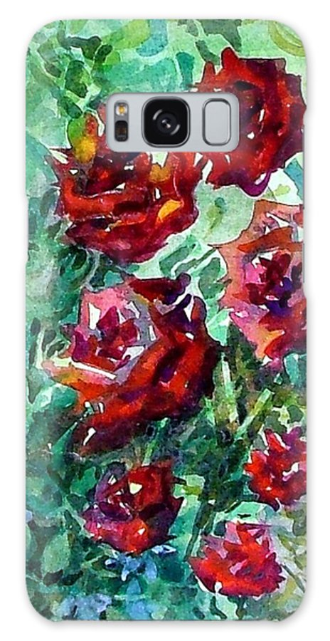 Rose Galaxy S8 Case featuring the painting Roses by Mindy Newman