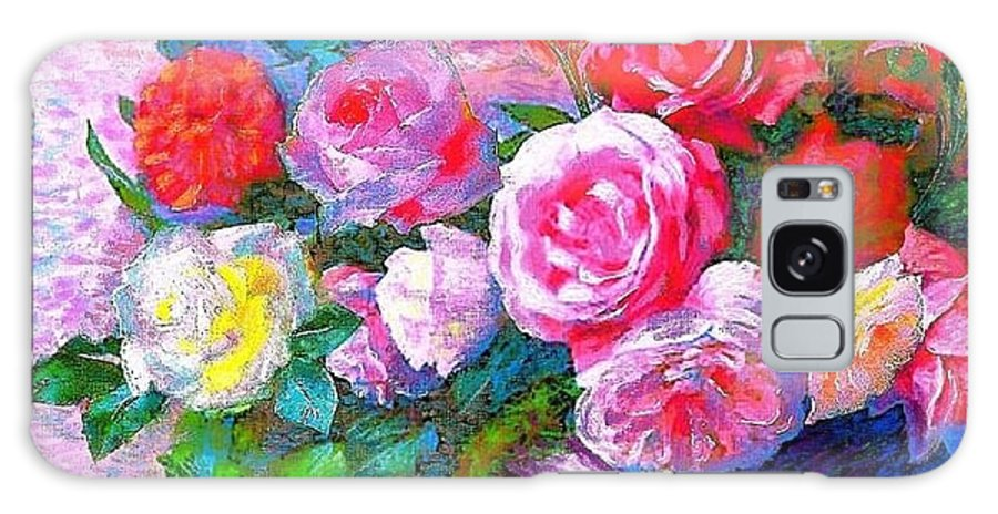 Galaxy S8 Case featuring the painting Roses by Panolamani Holdings