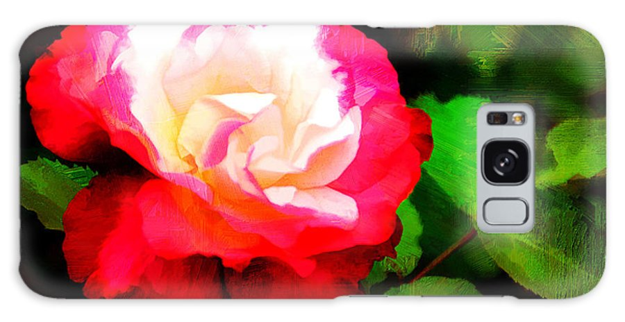 Flower Galaxy S8 Case featuring the photograph Rosie Red And White by Diane Wood