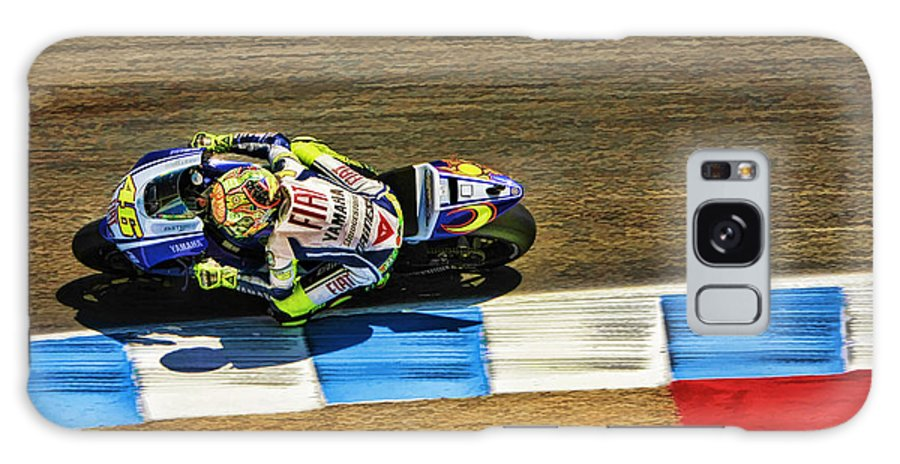 Valentino Rossi Galaxy S8 Case featuring the photograph Rossi From Above by Blake Richards