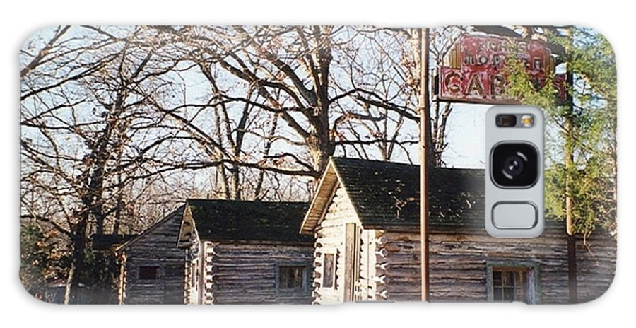 John's Galaxy S8 Case featuring the photograph Route 66 John's Modern Cabins by Laurie Eve Loftin