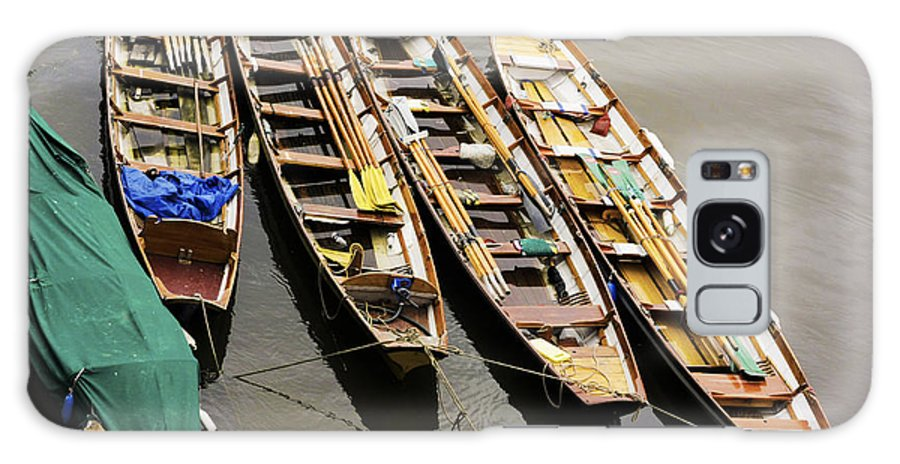 Boat Galaxy S8 Case featuring the photograph Rowing Boats by Maj Seda