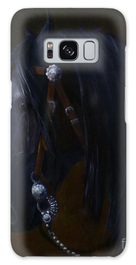 Friesian Galaxy S8 Case featuring the painting Royal Jewels - Friesian Horse by Kim Corpany
