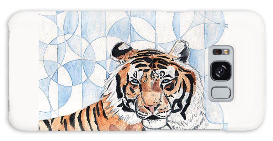 Tiger Galaxy S8 Case featuring the painting Royal Mysticism by Crystal Hubbard