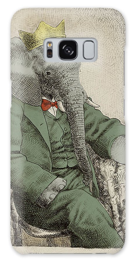 Elephant Galaxy Case featuring the drawing Royal Portrait by Eric Fan