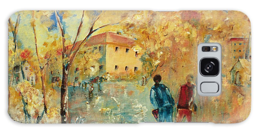 Back To School Galaxy S8 Case featuring the painting Rue Du Seminaire by Aline Halle-Gilbert