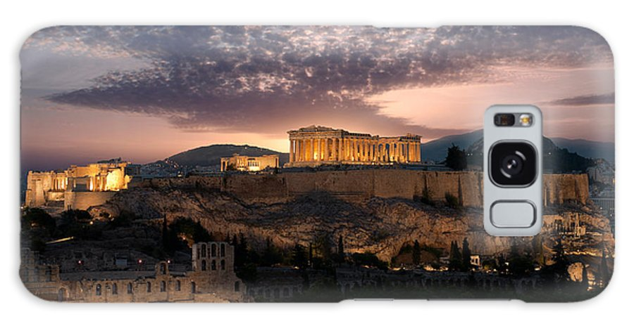 Photography Galaxy S8 Case featuring the photograph Ruins Of A Temple, Athens, Attica by Panoramic Images
