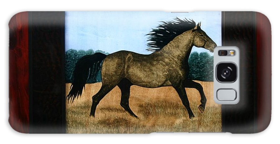 Horses Galaxy S8 Case featuring the painting Running Free by Valerie Lynn