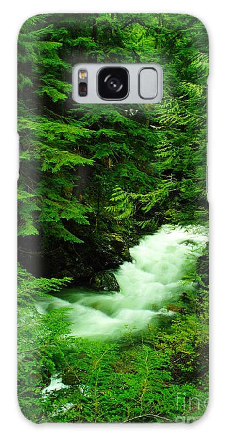 Water Galaxy S8 Case featuring the photograph Running Through The Forest by Jeff Swan