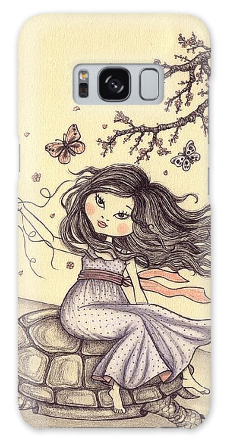 Illustration Galaxy S8 Case featuring the drawing Running To The Spring by Snezana Kragulj