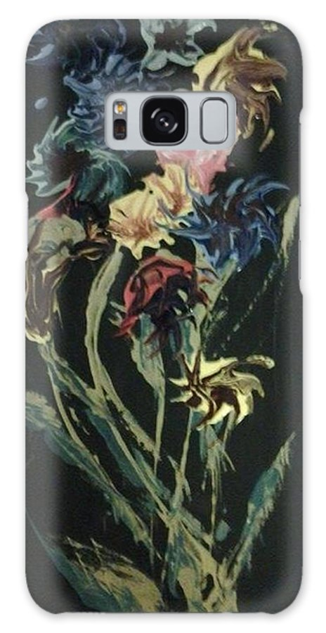 Flowers Galaxy S8 Case featuring the painting Runway Flowers by Affordable Art Halsey