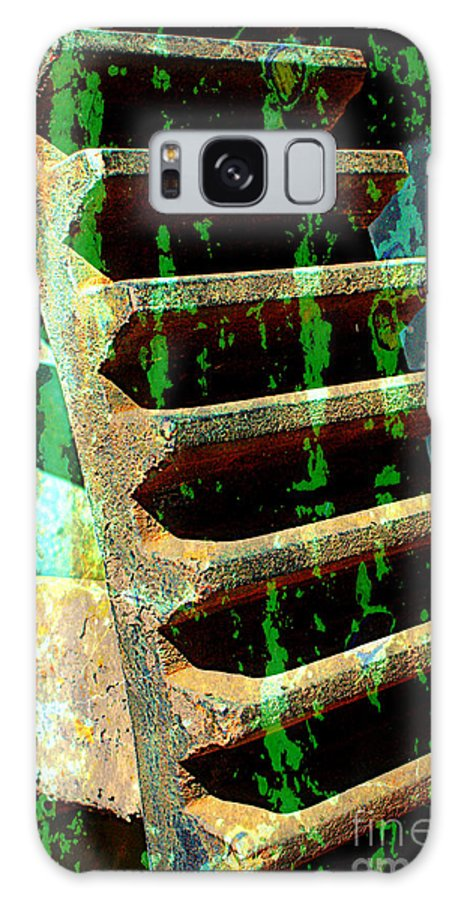Rust Galaxy S8 Case featuring the photograph Rusted Gears Abstract by Carol Groenen
