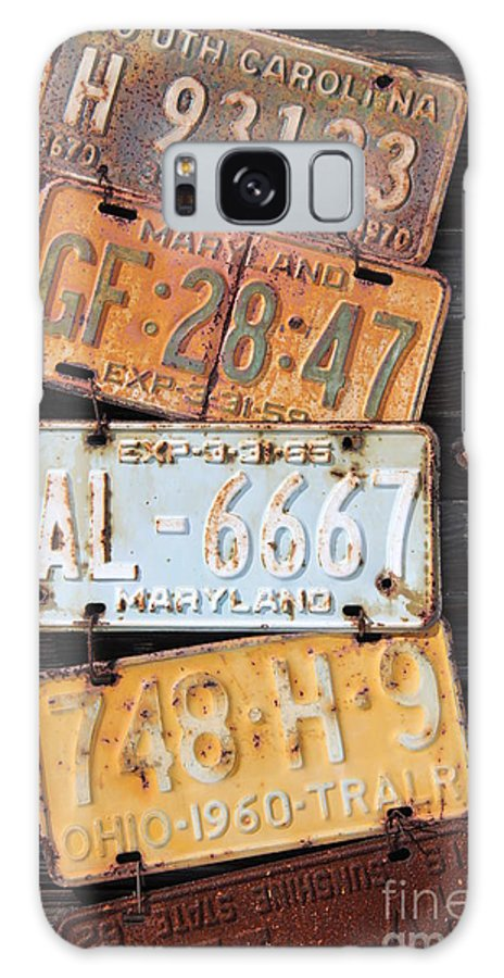Rusted Galaxy S8 Case featuring the photograph Rusted Plates by Diane Greco-Lesser