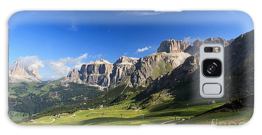Alpine Galaxy S8 Case featuring the photograph Saas Pordoi And Fassa Valley by Antonio Scarpi