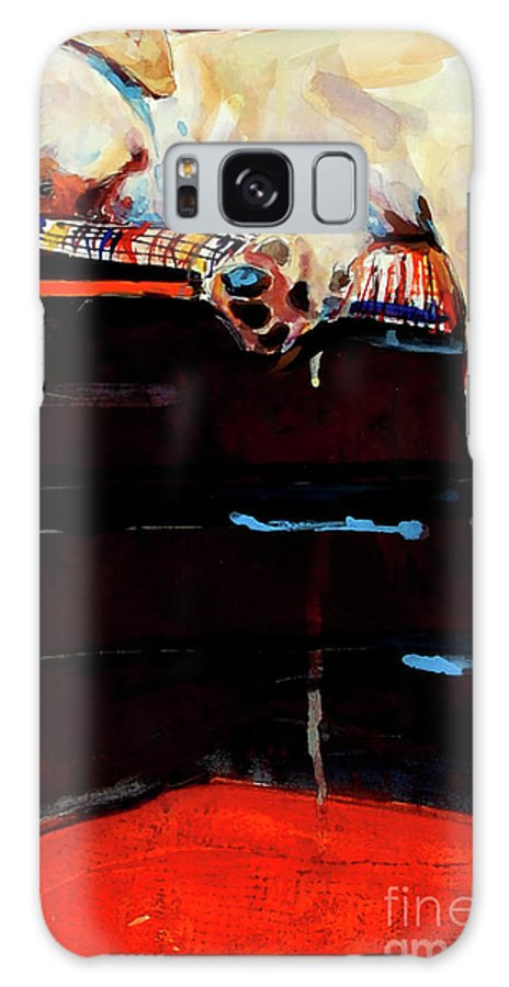 Dog Sleeping Galaxy S8 Case featuring the painting Sacked by Molly Poole