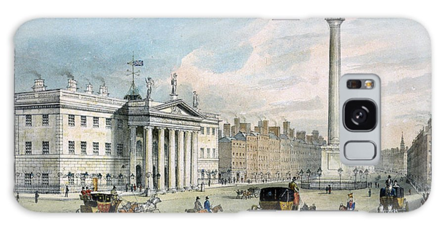 Carriage Galaxy S8 Case featuring the photograph Sackville Street, Dublin, Showing The Post Office And Nelsons Column by Samuel Frederick Brocas