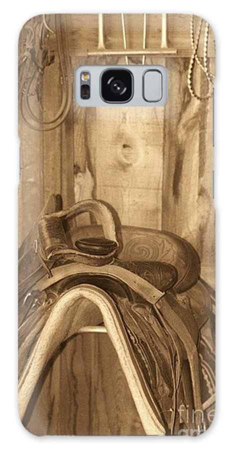 Saddle Galaxy S8 Case featuring the photograph Saddle by Brandi Maher