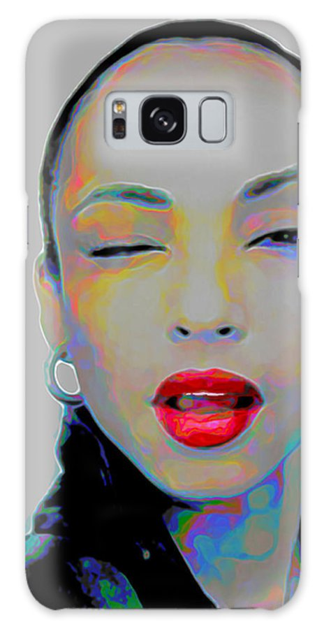 Sade Galaxy S8 Case featuring the painting Sade 3 by Fli Art