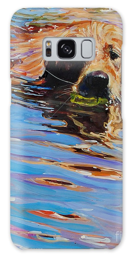 Golden Retriever Galaxy S8 Case featuring the painting Sadie Has A Ball by Molly Poole