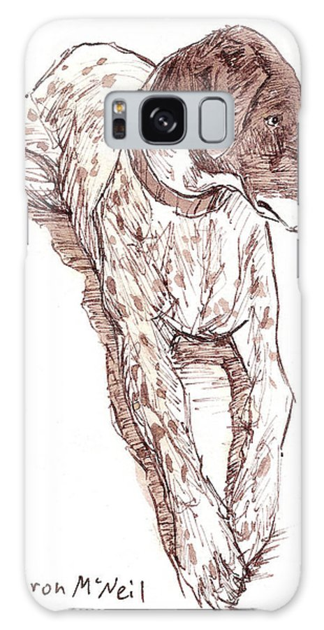 Dog Galaxy S8 Case featuring the drawing Sadie by Sharon McNeil