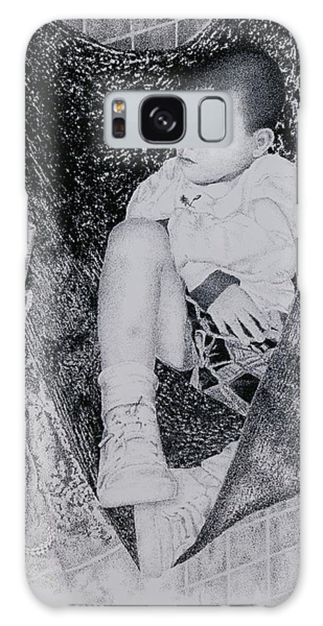 Tot Child Sleeping Boy Galaxy S8 Case featuring the painting Safety Net by Tony Ruggiero