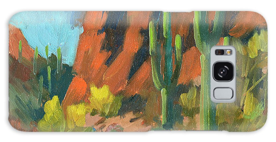 Saguaro Cactus Galaxy Case featuring the painting Saguaro Cactus 1 by Diane McClary