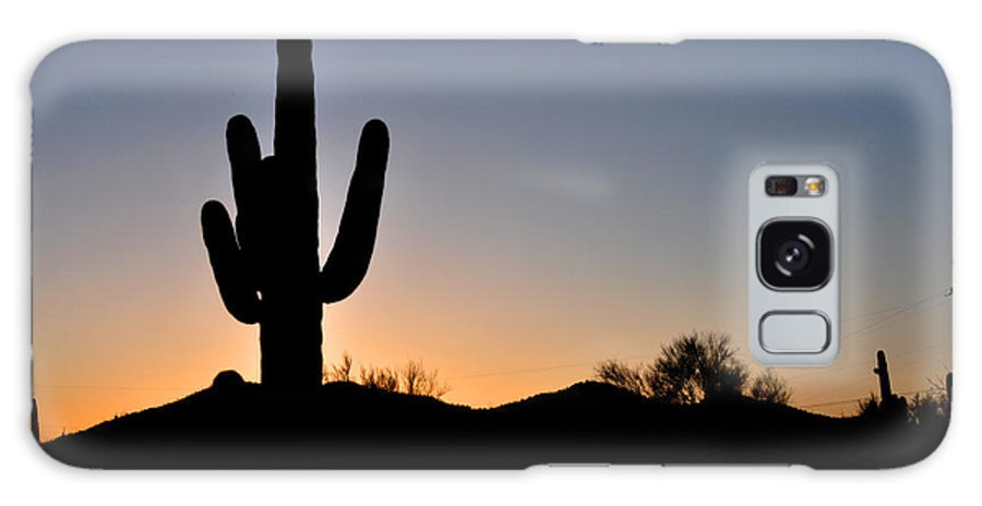 Saguaro Cactus Photography Galaxy S8 Case featuring the photograph Saguaro Sunset by Diane Lent