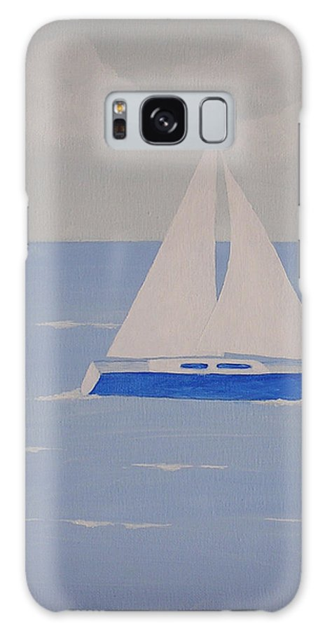 Sailboats Galaxy S8 Case featuring the painting Sail On Silver Girl by Debbie Kiewiet