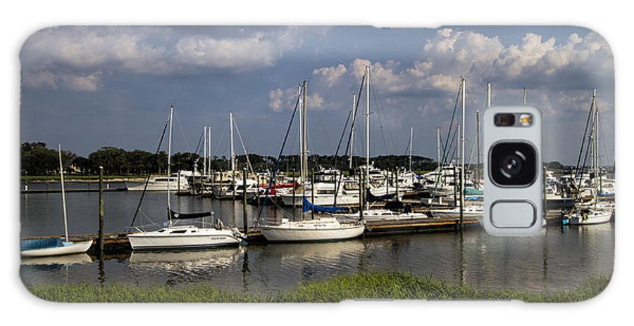 St Simon's Galaxy S8 Case featuring the photograph Sailboat Harbor At St. Simon's Island by Kathy Clark