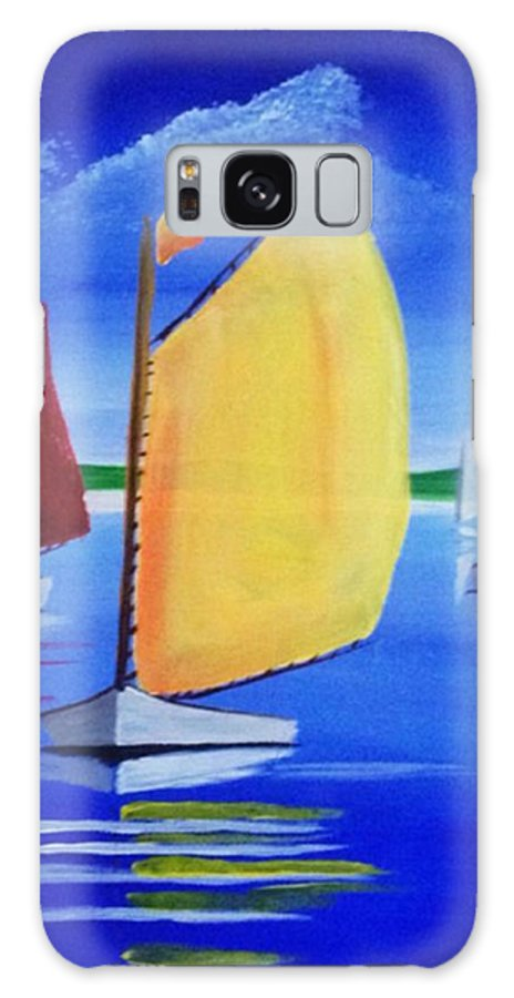 Sailboat Galaxy S8 Case featuring the painting Sailboats by David Cotton