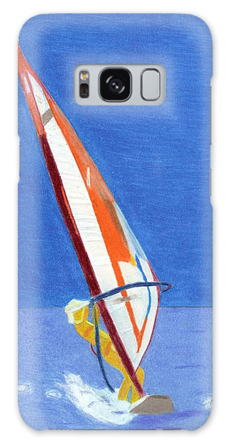 Sailing Galaxy S8 Case featuring the painting Sailing 3 by Dr Jessie Hummel