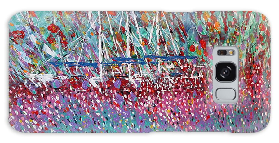 Flowers Galaxy S8 Case featuring the painting Sailing Among The Flowers by George Riney