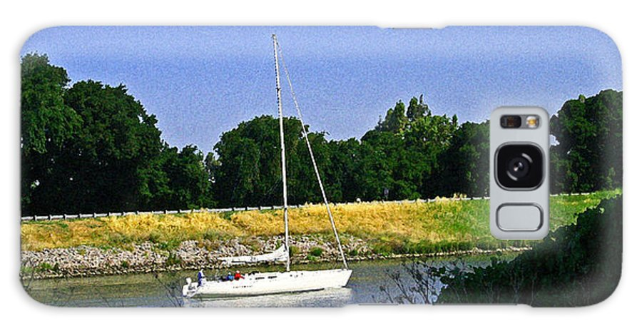 Sacramento River Galaxy S8 Case featuring the photograph Sailing North On The Sacramento River by Joseph Coulombe