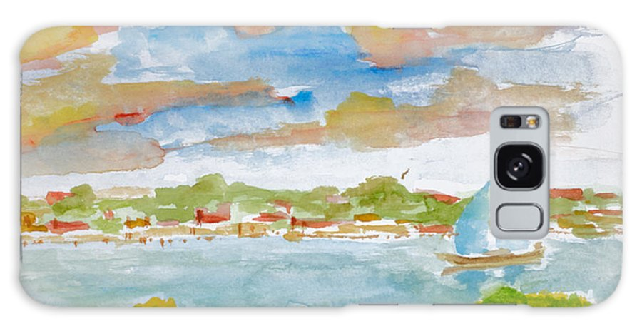 Nature Galaxy S8 Case featuring the painting Sailing On The River by Walt Brodis