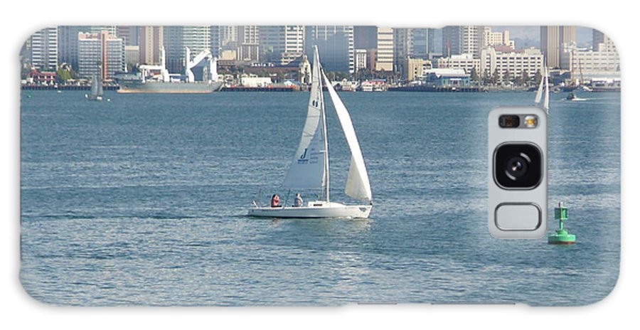 Sailboat Galaxy S8 Case featuring the photograph Sailing San Diego by Mary Brhel