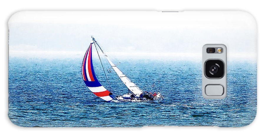 Ocean Galaxy S8 Case featuring the photograph Sailing Vinyard Sound Photo Art by Constantine Gregory