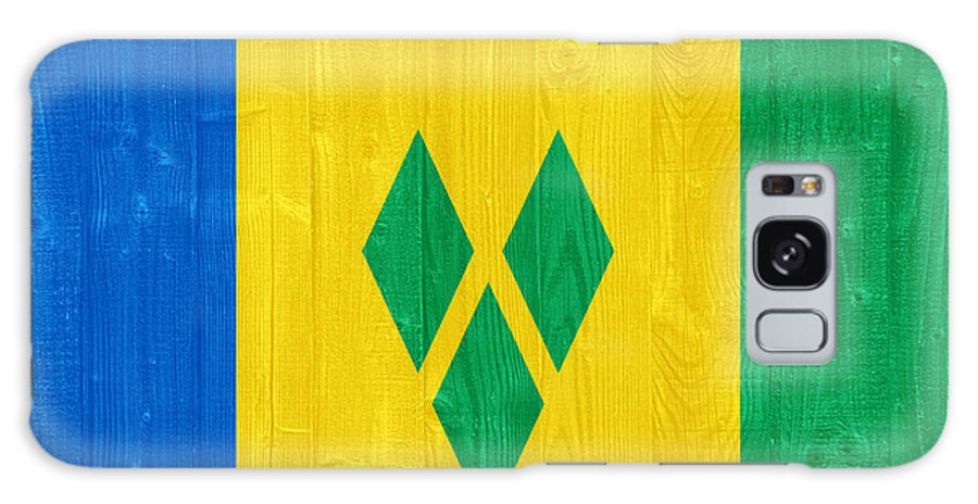 Saint Galaxy S8 Case featuring the photograph Saint Vincent And The Grenadines Flag by Luis Alvarenga