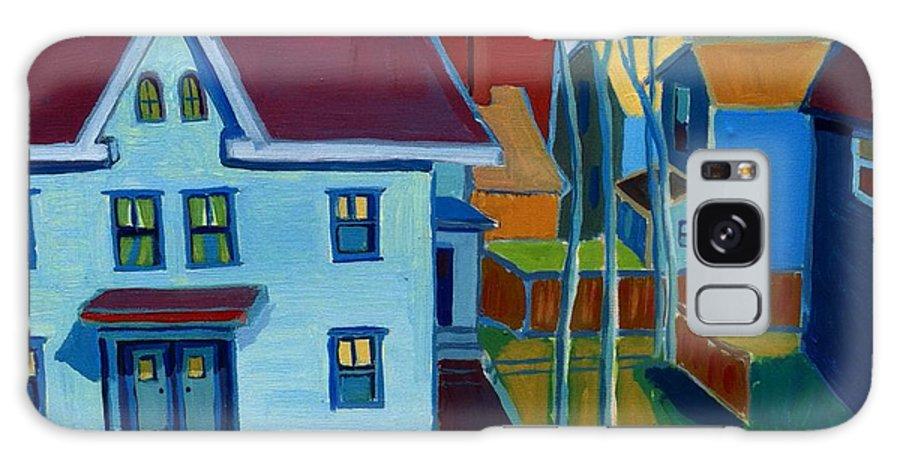 City Scene Galaxy Case featuring the painting Saints Memorial View by Debra Bretton Robinson
