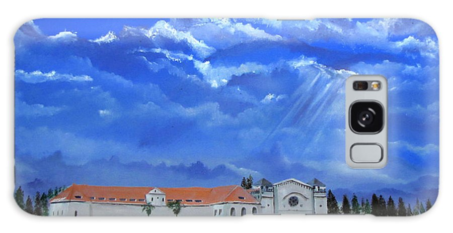 Oil Galaxy S8 Case featuring the painting Salesian Church by Elias Akleh