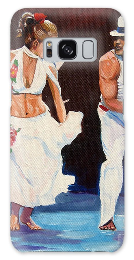 Dancing Galaxy Case featuring the painting Salsa by Jose Manuel Abraham