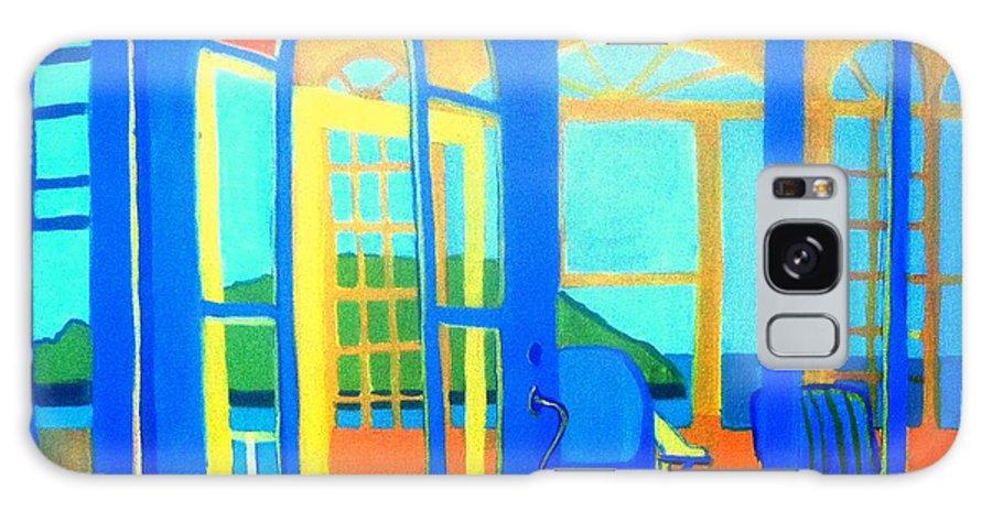 Island Galaxy Case featuring the painting Salt Island Sunporch Gloucester by Debra Bretton Robinson